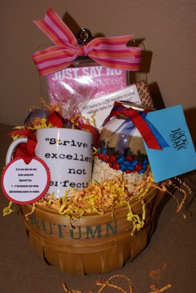 mom's back-to-school basket