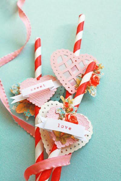 pretty valentine straws