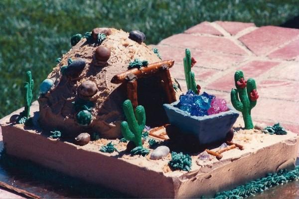 gold mining cake