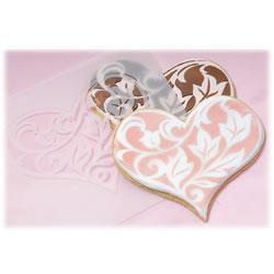heart cookie stencils