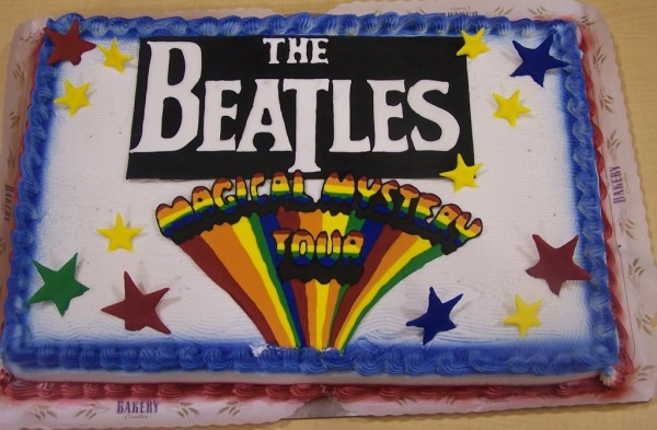 beatles magical mystery tour cake