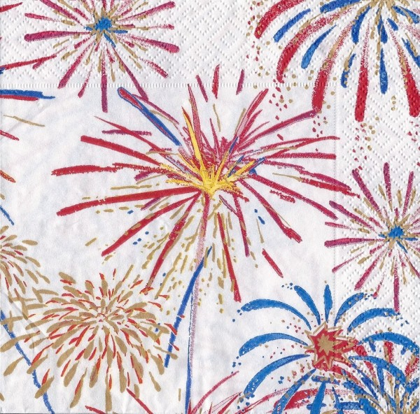 fireworks cocktail napkins