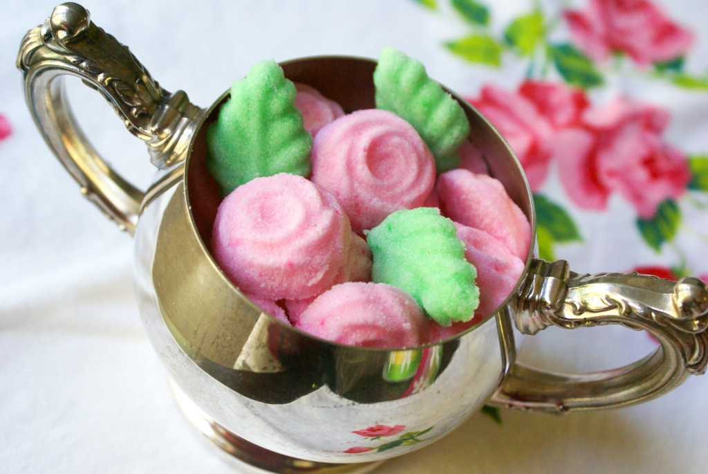 molded sugar for tea parties