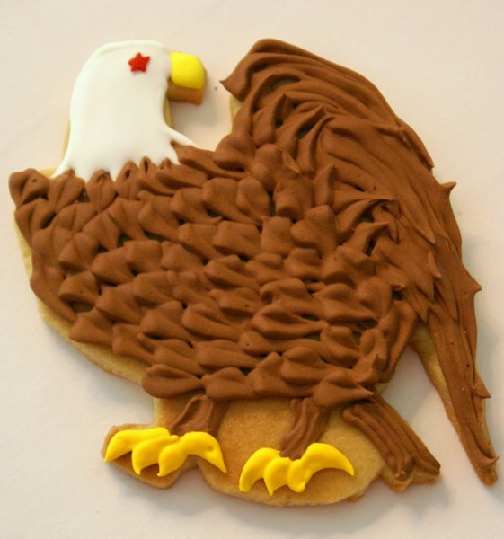 american eagle decorated cookies