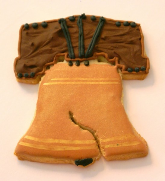 liberty bell decorated cookies