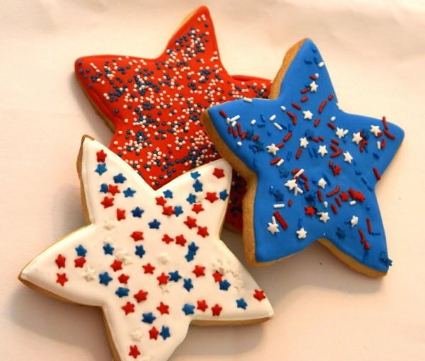 decorated star cookies