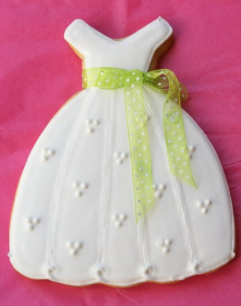 debutante ballgown dress cookies
