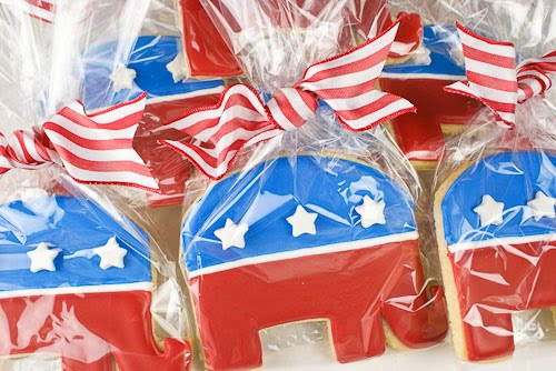 Republican Elephant Decorated Cookies
