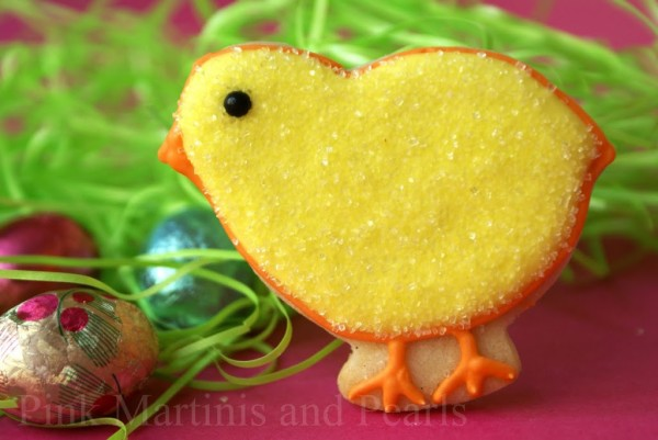 decorated chick cookies