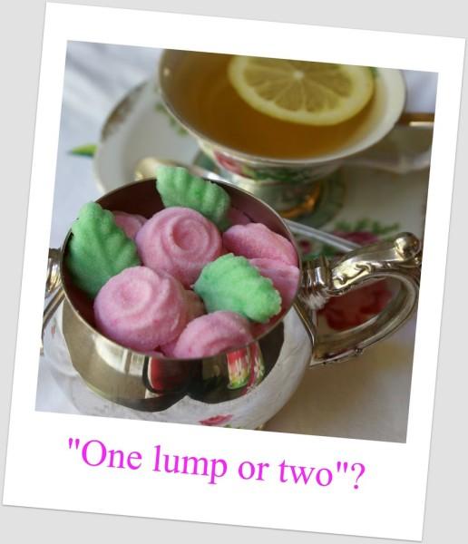 molded decorative tea sugars