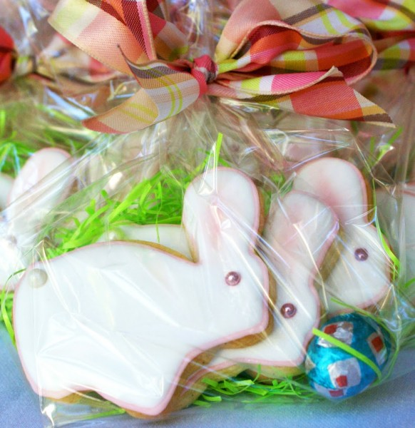 decorated baby bunny cookies