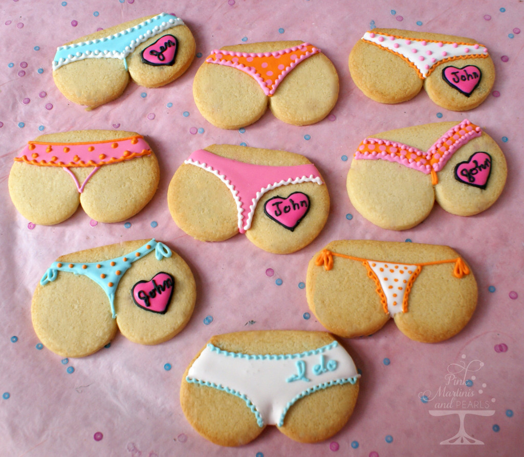 bridal shower tushie cookies