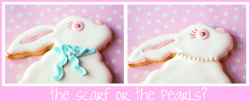 decorated easter bunny cookies