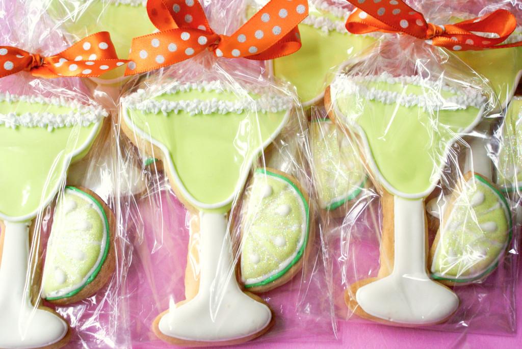 decorated margarita cookies