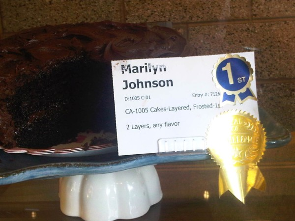 All American Choclate Cake.Marilyn Johnson