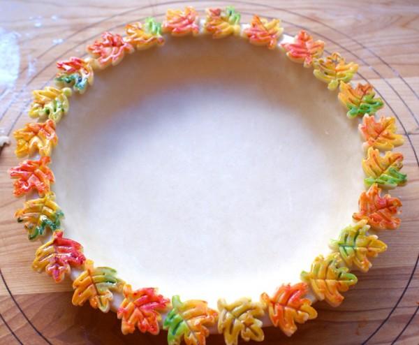decorative painted pie crust