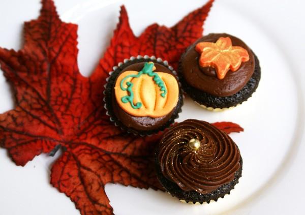 fall mini cupcakes