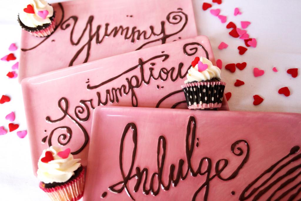 Valentine Dessert Plates