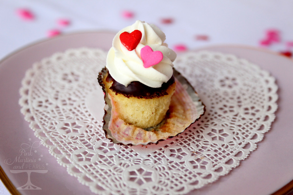 mini boston cream cupcake open wrapper