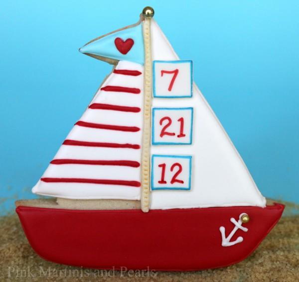 sail boat cookies