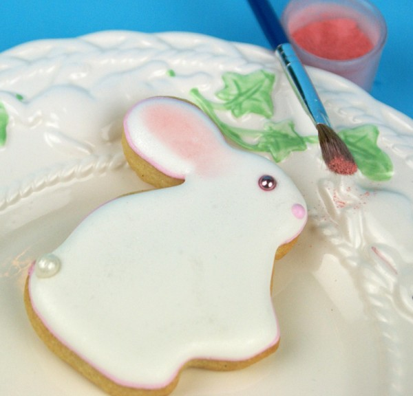 baby bunny decorated cookies