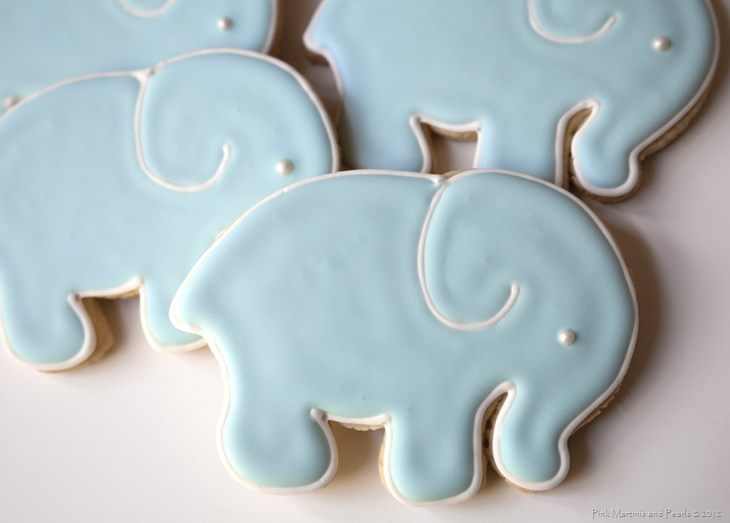 Baby Elephant Baby Shower Cookies
