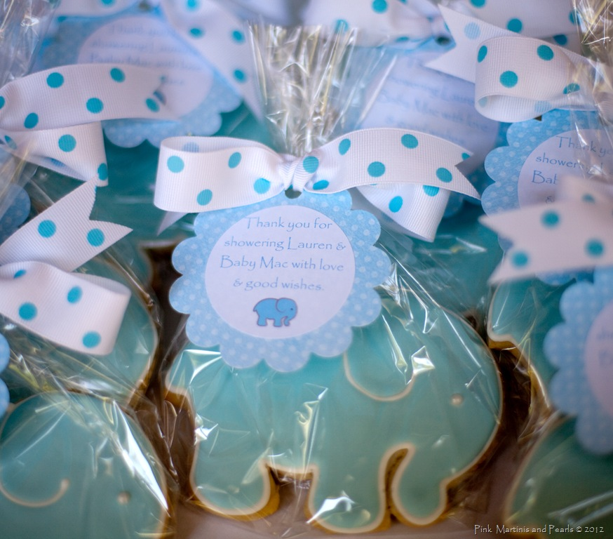 Baby Elephant Cookies For A Baby Shower