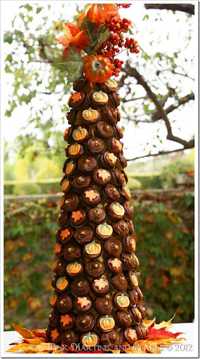 fall mini cupcake tower