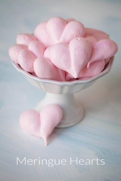 meringue hearts cookies