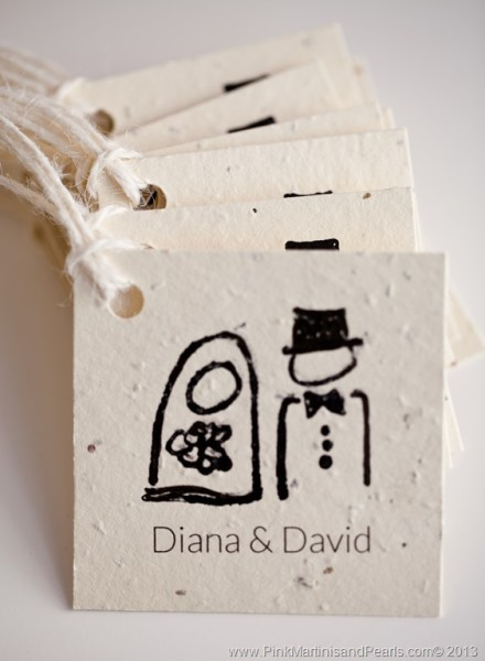 bridal shower cookie tags
