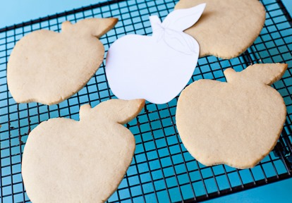 decorated apple cookies template