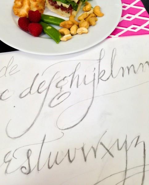 Sugar Paper Calligraphy Class-9