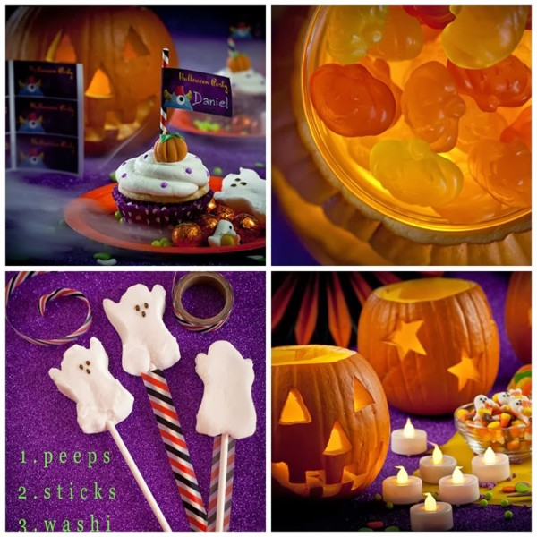 safe table decorations for kids' halloween party