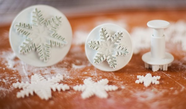 Snowflake Fondant Cutters Ornament Cookies-5319