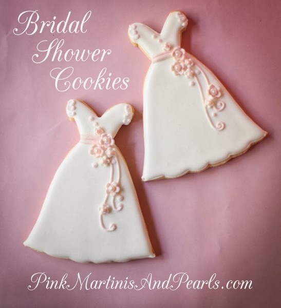 Bridal Shower Wedding Dress Cookie-5932