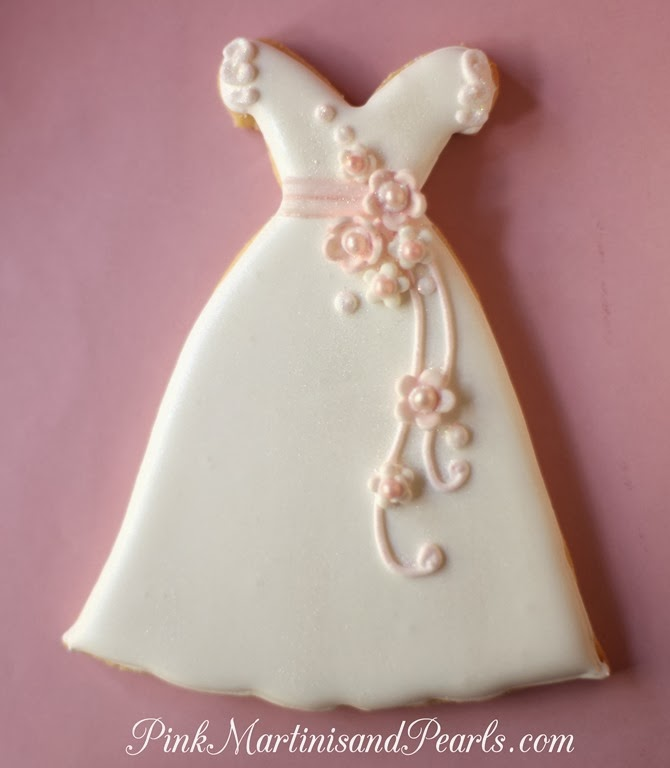 Wedding Dress Decorated Cookies For A Bridal Shower