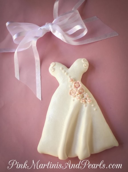 Bridal Shower Wedding Dress Cookie-5973