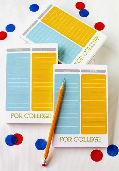 Shutterfly Colorful List 5x7 Notepad graduation