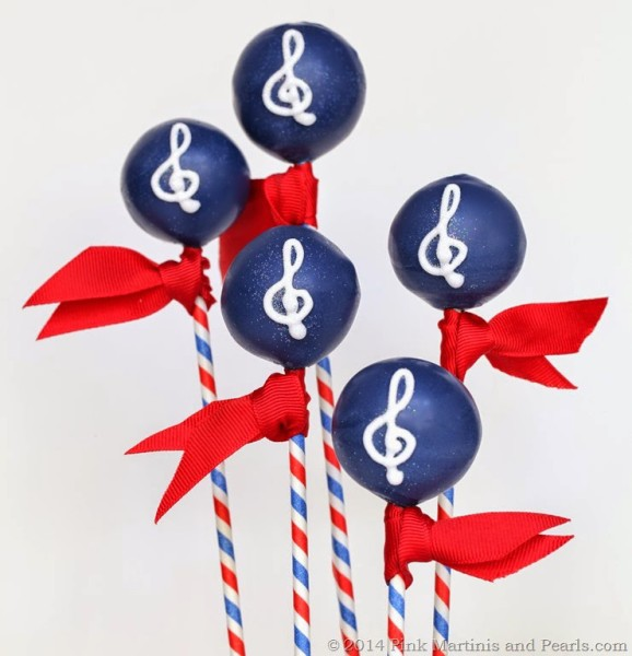 DIY Music Themed Treble Clef Decorated Cake Pops
