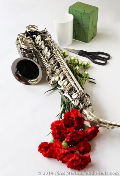 DIY Musical Instrument Floral Arrangement Saxophone