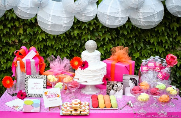 Shutterfly Bridal Shower Dessert Table