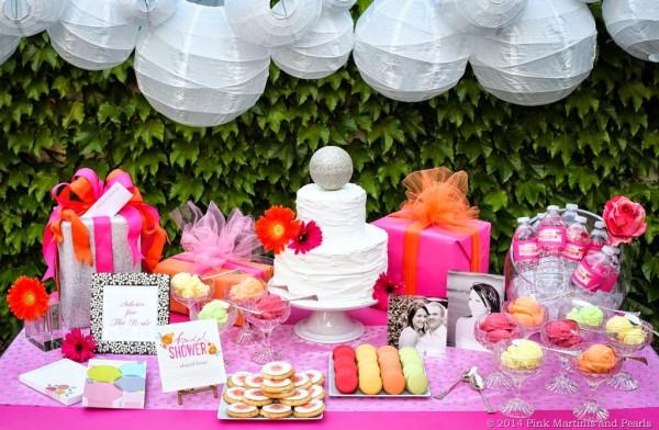 Shutterfly Bridal Shower Dessert Table
