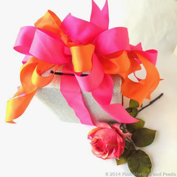 pink and orange gift wrapping