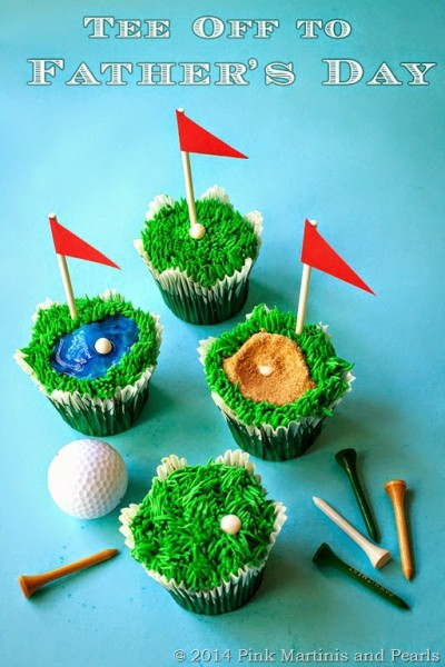Father's Day Golf-themed Cupcakes