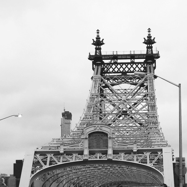 queensboro bridge b.w