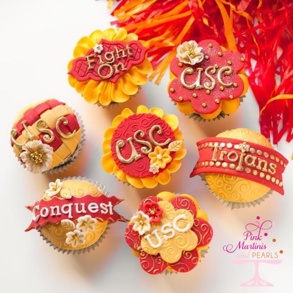USC Trojan Cupcakes