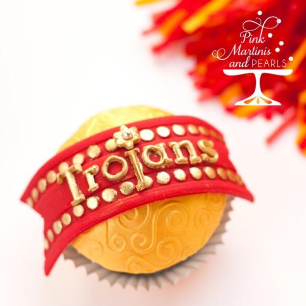 USC Trojans Cupcake-