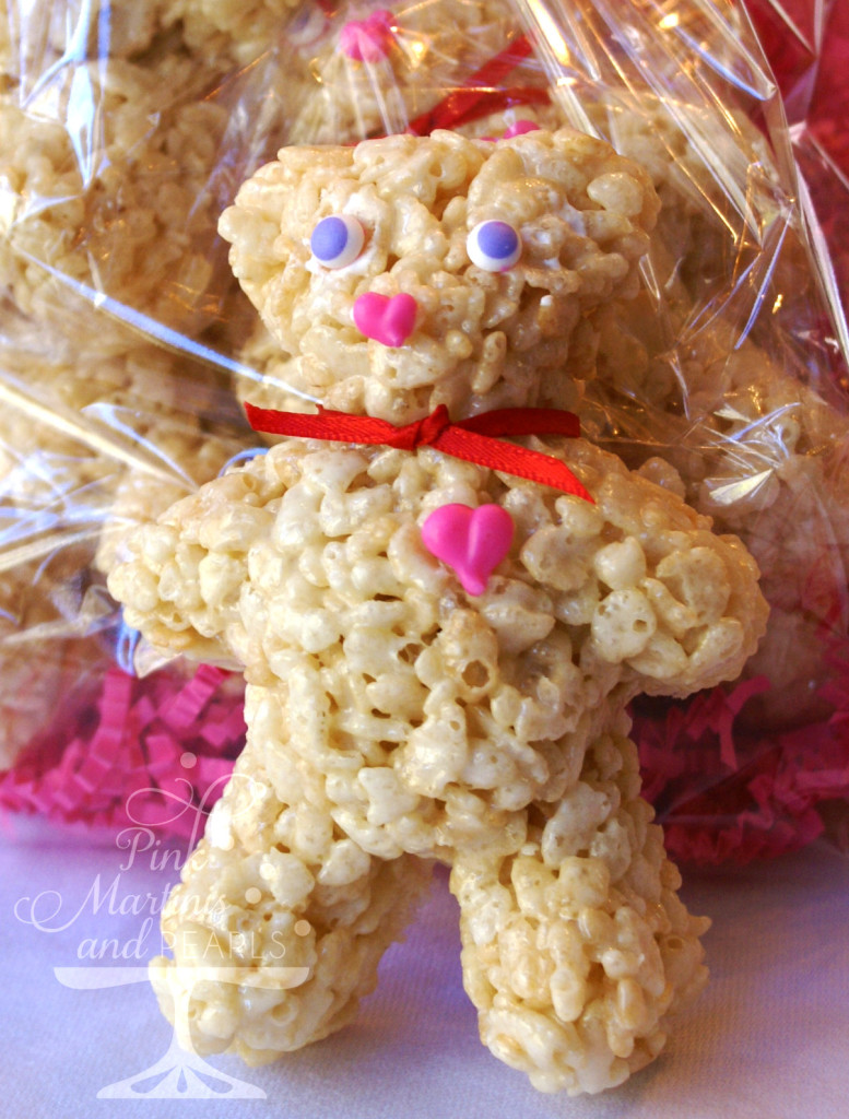 Collegiate Valentine Care Package Rice Krispy Bears