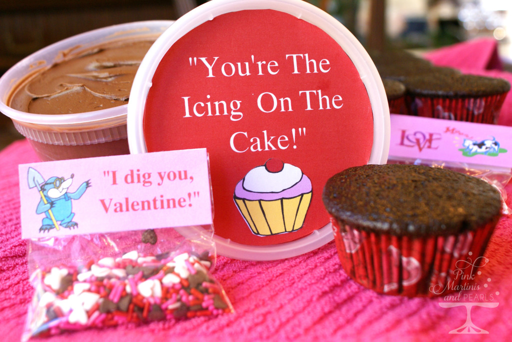 Collegiate Valentine Care Package DIY Cupcakes