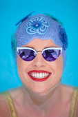 Swimmer Wearing Sunglasses